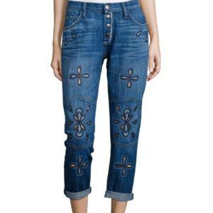 NWOT Current Elliott Fling Embroidery Jeans Sz 24